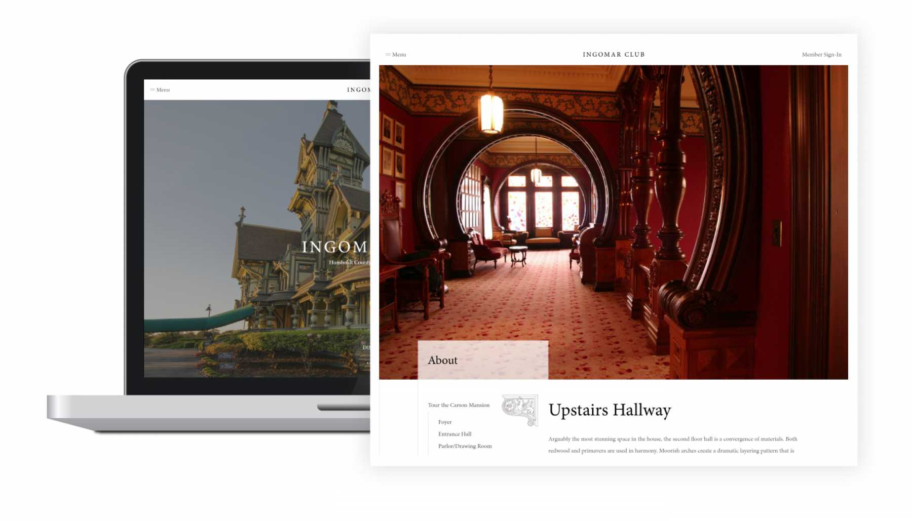 Image displaying the Carson Mansion featured on the Ingomar Club Website